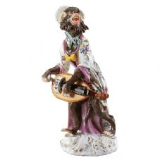 Meissen Monkey Band - Figurine of a Barrel Organ Player